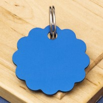 Cloud Double-Sided Pet Id Tag Blue 25mm