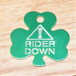 Emergency Rider Down Shamrock Horse Tag