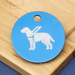 Guide Dog Engraved Pet Tag