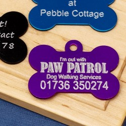 Dog Walker Pet Id Tags
