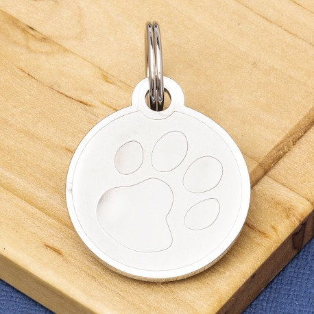 Paw Pet id Tag Stainless Steel
