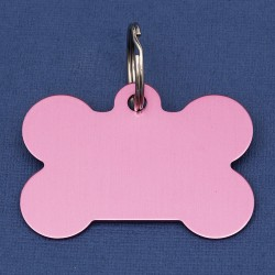 Extra Large Bone Dog ID Tag  Pink Double Sided