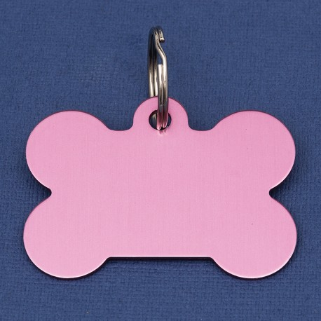 Extra Large Bone Dog ID Tag  Pink Double Sided