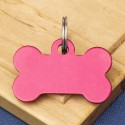Small Bone Dog ID Tag Red Double Sided