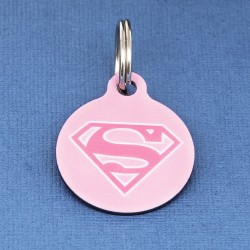 Supergirl Pet ID Tag