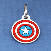 Captain America Pet ID Tag - Large