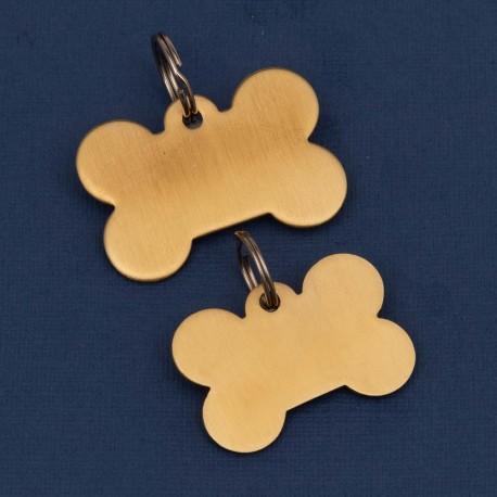 Premium Brass Pet Id Tag Small