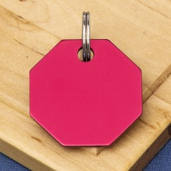 Octagon Pet Id Tag Red