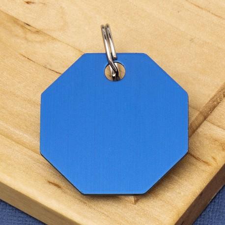 Octagon Pet Id Tag Blue
