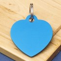 Blue Heart Pet Id Tag Large