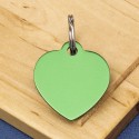 Green Heart Pet Id Tag Aluminium