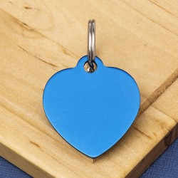 Blue Heart Pet Id Tag Medium