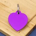 Purple Heart Pet Id Tag Medium
