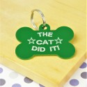 The Cat Did It Pet Tag
