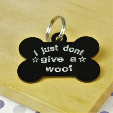Don't Give a Woof Pet Tag