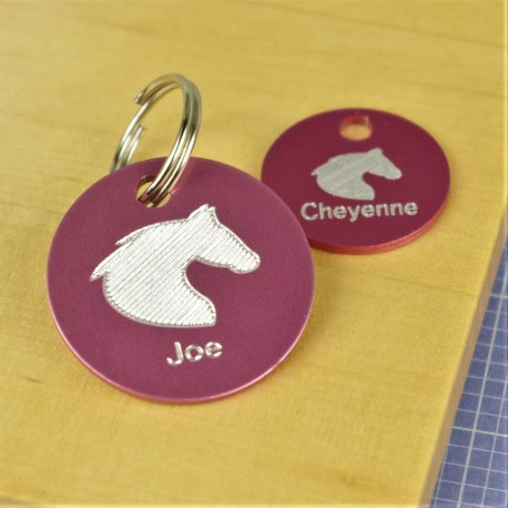Horse Engraved Bridle Tack Tags
