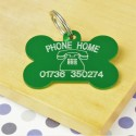 Phone Home Bone Pet Tag