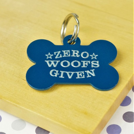 Zero Woofs Given Funny Pet Tag