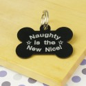 Naughty is the New Nice Pet ID Tag