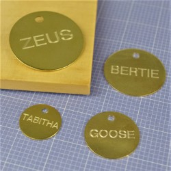 Brass Engraved Pet ID Tags