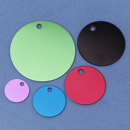 10 Engraved Round Pet Tags
