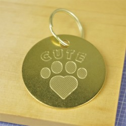 Cute Brass Pet Id Tag