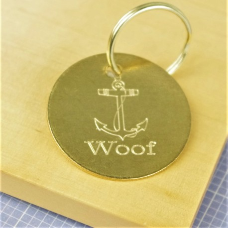 Anchor Brass Pet Id Tag