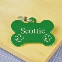 Shamrock Bone Pet ID Tag