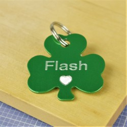 Shamrock Heart Pet Id Tag