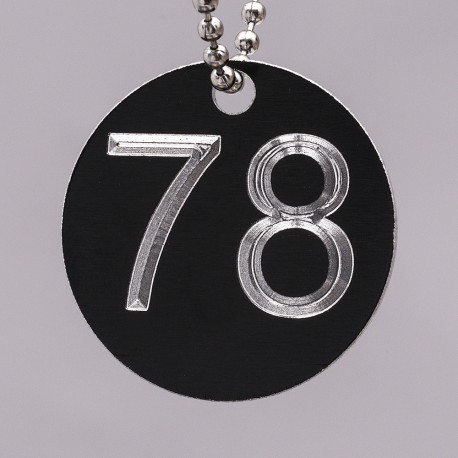 32mm Engraved Numbered Tag Alumnium