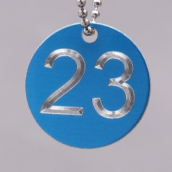 38mm Engraved Numbered Tag Aluminium