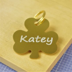 Shamrock Engraved Pet Tag