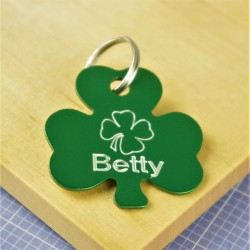 Lucky Shamrocks Pet ID Tag