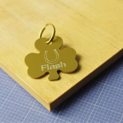 Shamrock Horseshoe Pet Tag