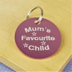 Mum's Favourite Child Pet Id Tag