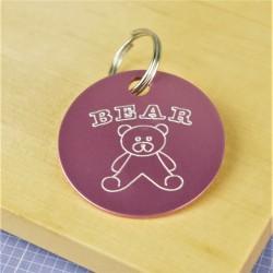 Teddy Bear Pet Id Tag
