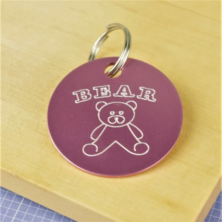 Teddy Bear Pet Id Tag