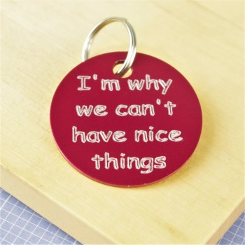 Why we can't have nice things Pet Id Tag