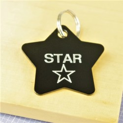 Star Design Pet Id Tag