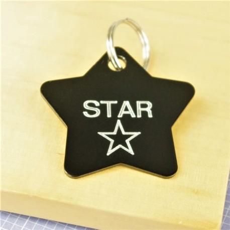 Star Design Pet Id Tag
