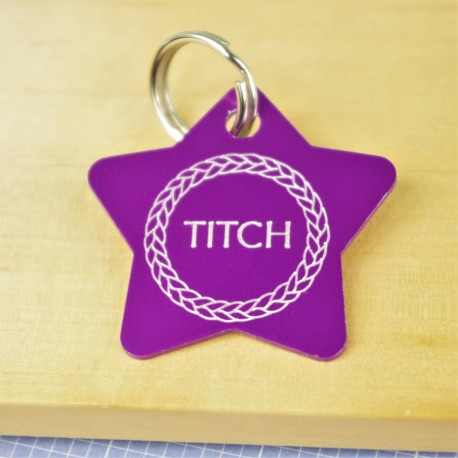 Star Wreath Pet Tag