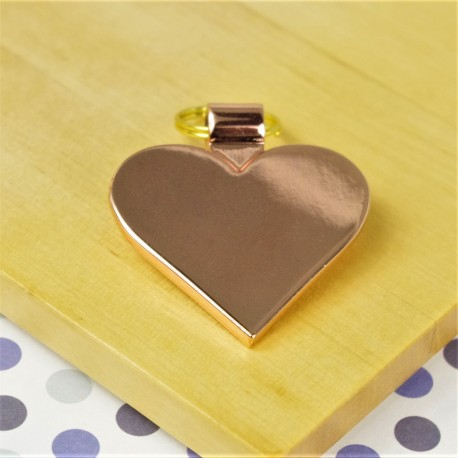 Rose Gold Heart Dog ID Tag