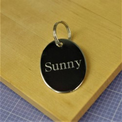 Chrome Oval Pet Id Tag