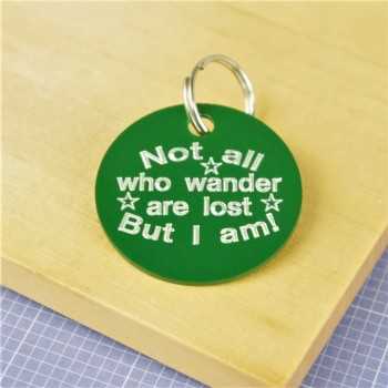 Not all Who Wander Are Lost  Pet Tag