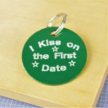 Kiss on First Date Pet ID Tag