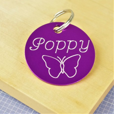 Butterfly Pet ID Tag