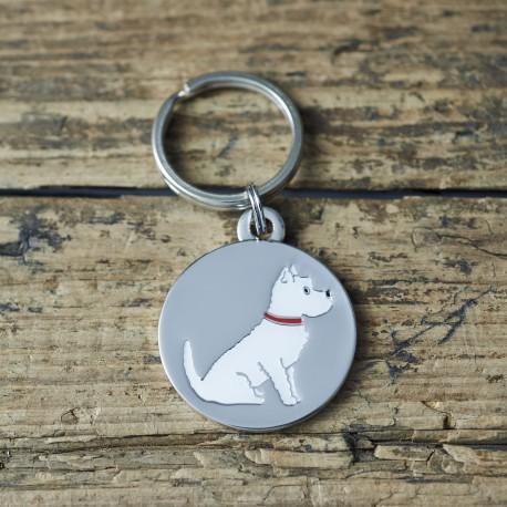 Westie Dog ID Tag