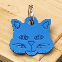 Small Cat Identity Tag Blue