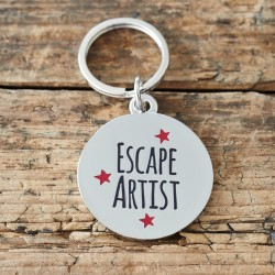 Escape Artist Pet Tag