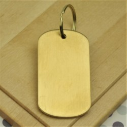 Premium Brass Military Dog Tag